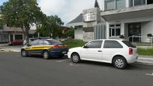 Motorista foi abordada pela PRF no Km 1, em Osório. Crédito: PRF / Divulgação