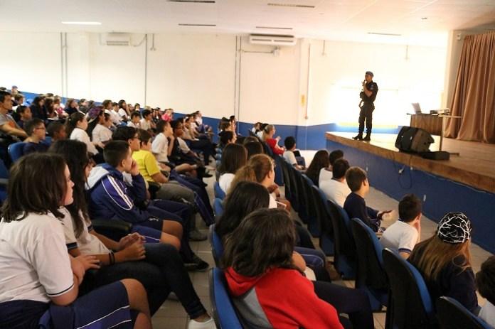 Palestra Ronda Escolar Foto Comunicação PMBC 2