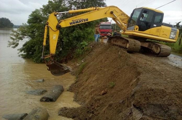 Obra de contenção do Rio Itajaí Açu é concluída hoje no Espinheiros