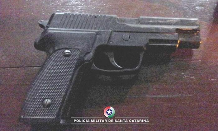arma de fogo aprrendida
