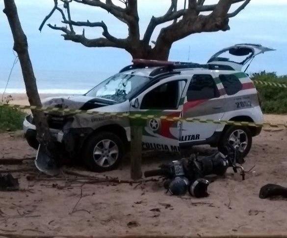 acidente viatura praia brava