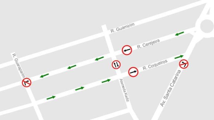 ruas Cerejeira e Coqueiros