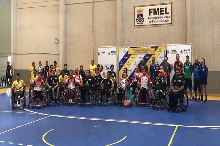 Itajaí é terceira colocada na Copa SC de handebol em cadeira de rodas
