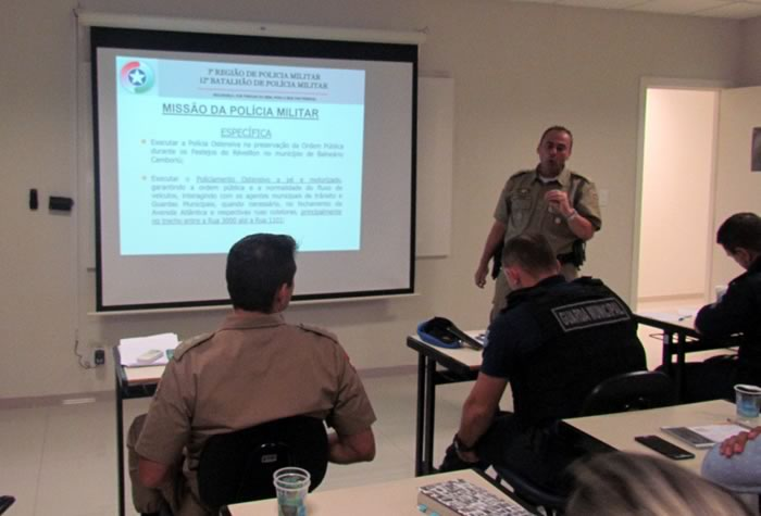 reunião de planejamento da Operação Réveillon de Balneário Camboriú