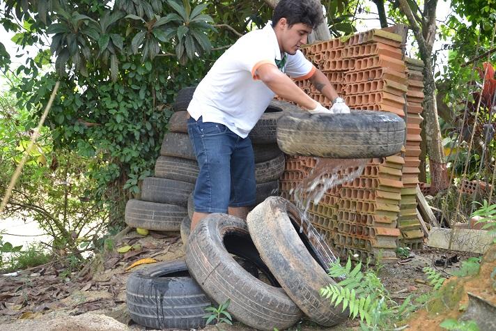 Força tarefa contra mosquito da dengue em Camboriú teve participação de 200 pessoas