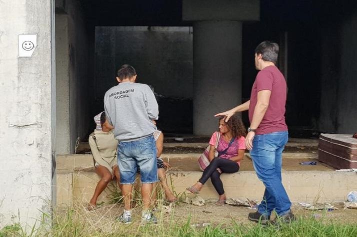 Imóvel abandonado é alvo de ação conjunta do Município de Itajaí com a Polícia Militar