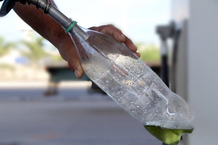 combustivel garrafa