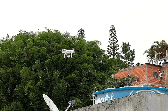 Drone do Programa Combate ao Aedes aegypti