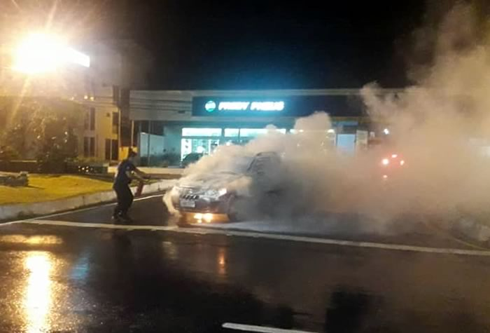 fogo carro