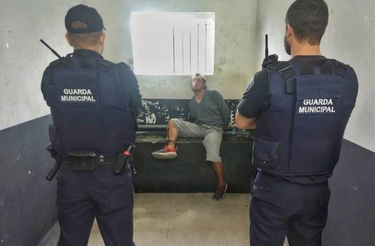 Guarda Municipal prende suspeito de agredir companheira
