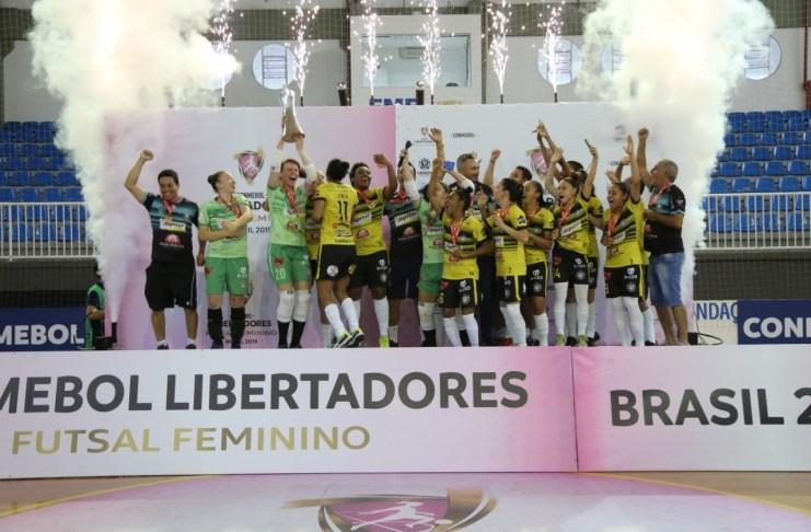 Time brasileiro conquista a Conmebol Libertadores de Futsal Feminino