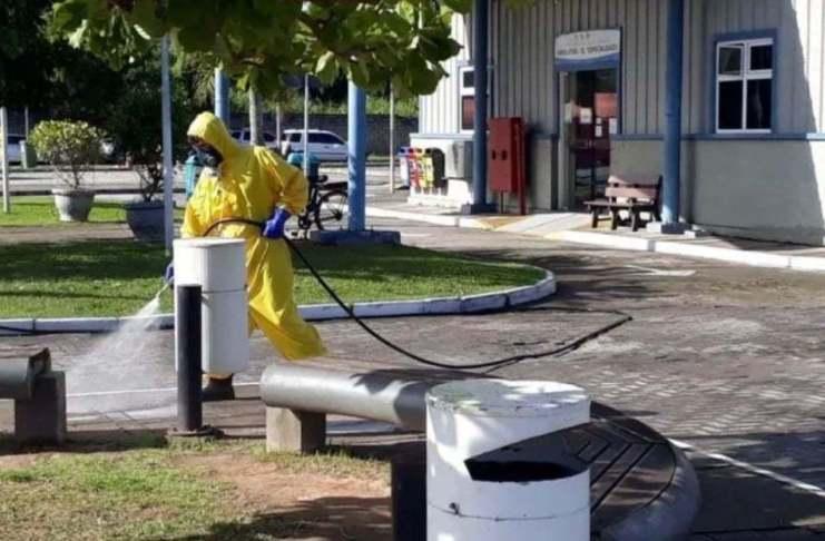 BC inicia sanitizacao das ruas