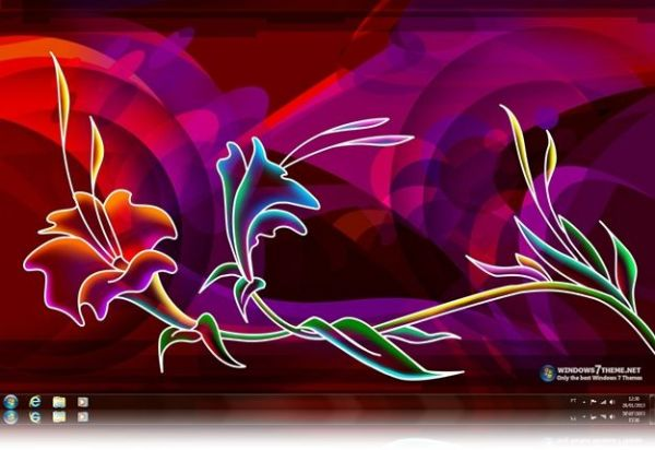 Download Neon Art Windows 7 Theme - Baixar no ClickGrátis