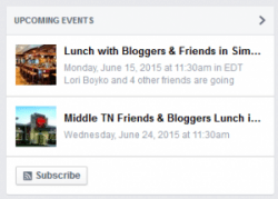 Facebook Page Events