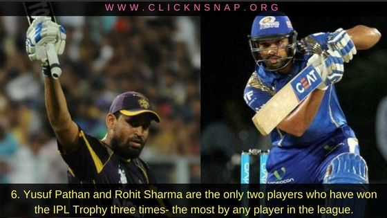 Yusuf Pathan, Rohit Sharma,10 IPL facts , IPL , IPL 2017 , IPL Facts