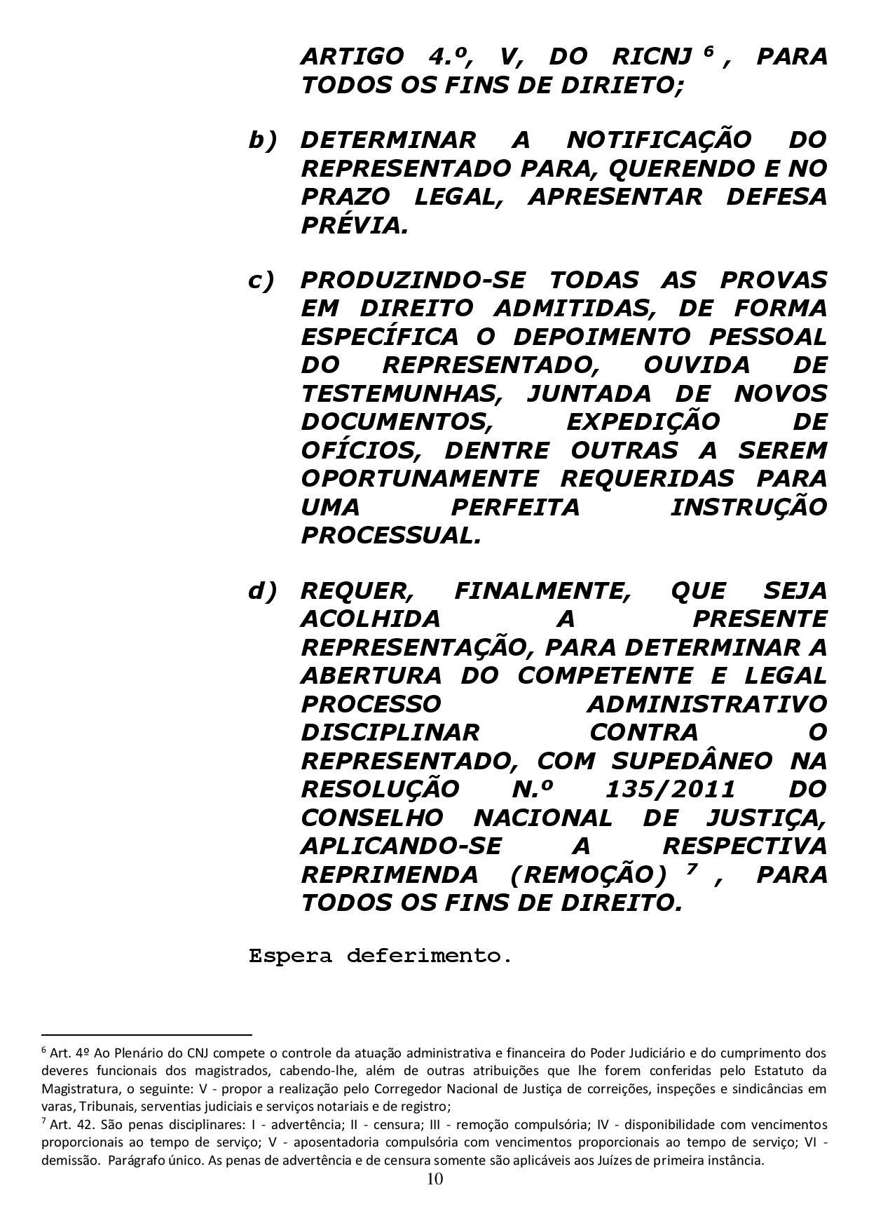reclamacao correicional 1 page 010 - Sindicato dos Advogados da Paraíba pede no CNJ afastamento de Sergio Moro