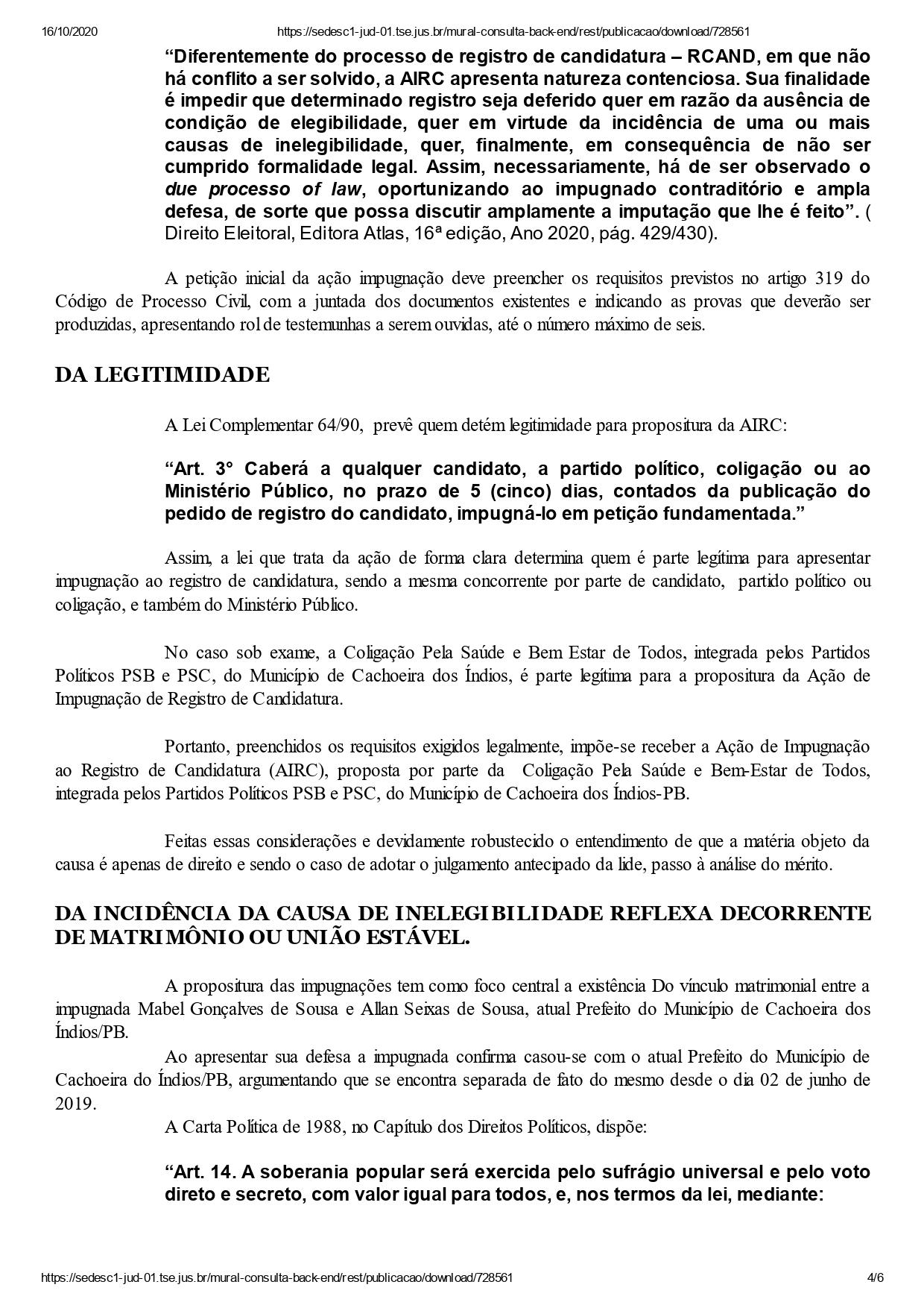 cachoeira dos indios mabel page 0004 - DECISÃO: Justiça Eleitoral indefere registros dos dois únicos candidatos a prefeito de Cachoeira dos Índios