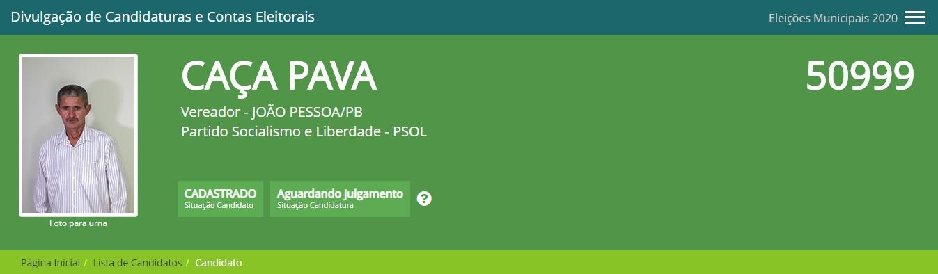 """caca paiva - Nomes bizarros e estranhos dessas eleições em João Pessoa: """"Galega do Alternativo, Vaquinha Elvira e Coroa Boy""""; veja mais"""