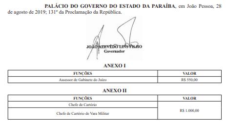 screenshot 6 - MUDANÇAS: TJPB extingue cargos em comissão de assistente de administração e cria de assessor de juiz
