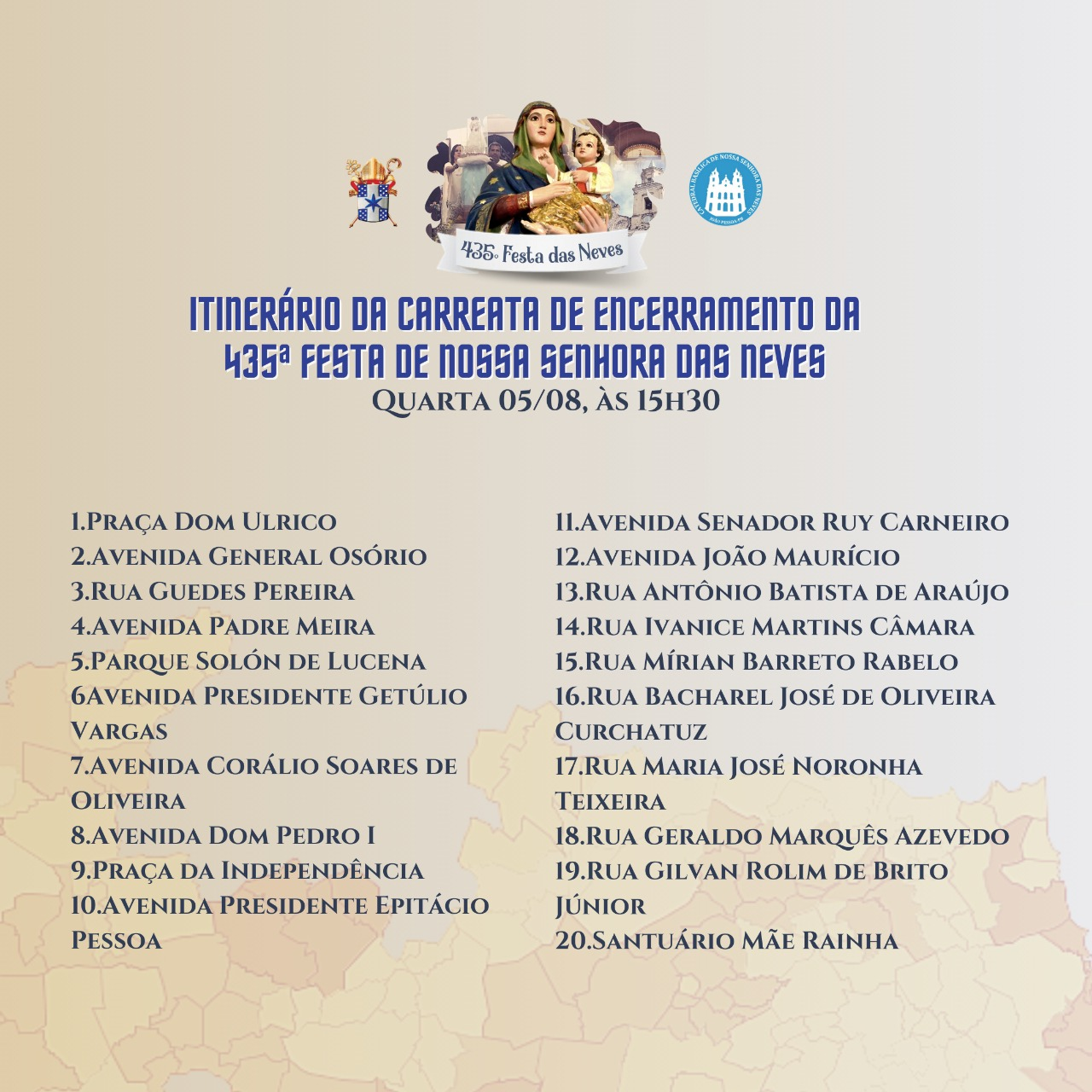 whatsapp image 2020 08 04 at 113127 - Carreata encerra programação religiosa da Festa das Neves em João Pessoa