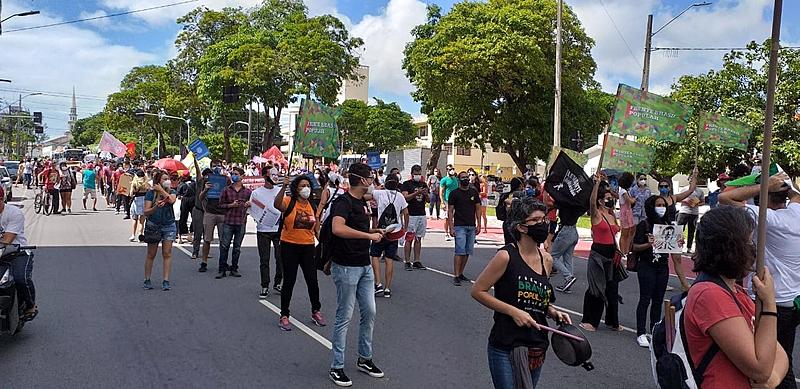 image_processing20210529-1578-102oz9e Manifestantes fazem ato pelo impeachment do presidente Jair Bolsonaro na Paraíba