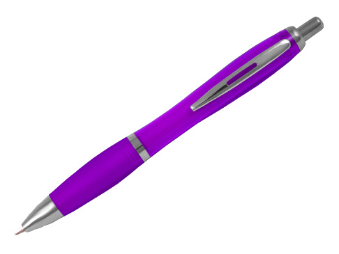 Curvy Ball Pens - Promotional Plastic Pens - Click Promo Gifts