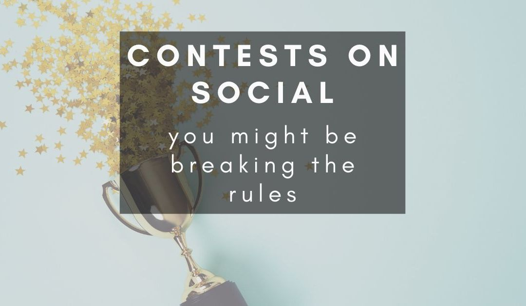 What are the rules when running a competition on Facebook?