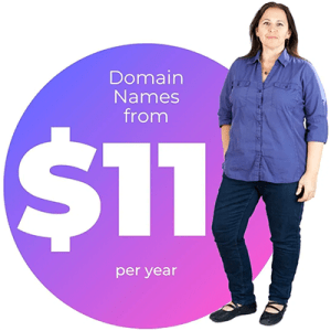 Domain names from $11 per year