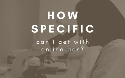 Can I just advertise in the parts of Facebook, Google, LinkedIn and Instagram that I know my customers are using?