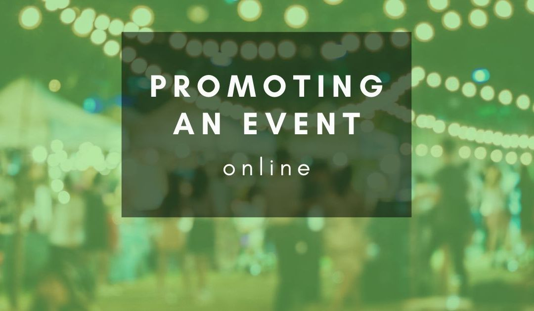 How do I promote an event online?