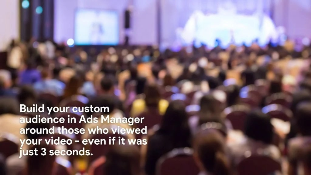 Create a custom audience from your video views