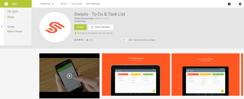Download Swipes-To-do & Task List