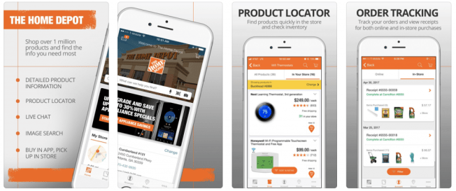 Top retail mobile apps: Home Depot