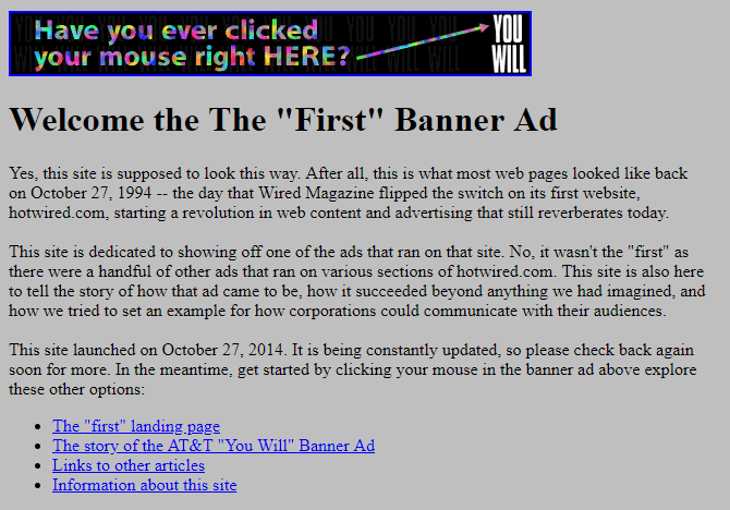 the first banner ad