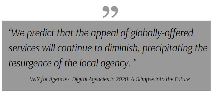 digital marketing agencies 2020, quote that the local agency will reemerge