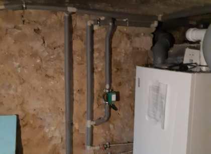 montáž plynového kotle