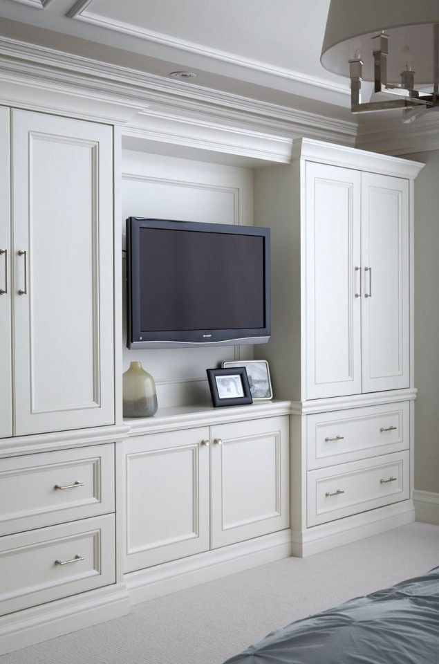 built in bedroom cabinets with tv