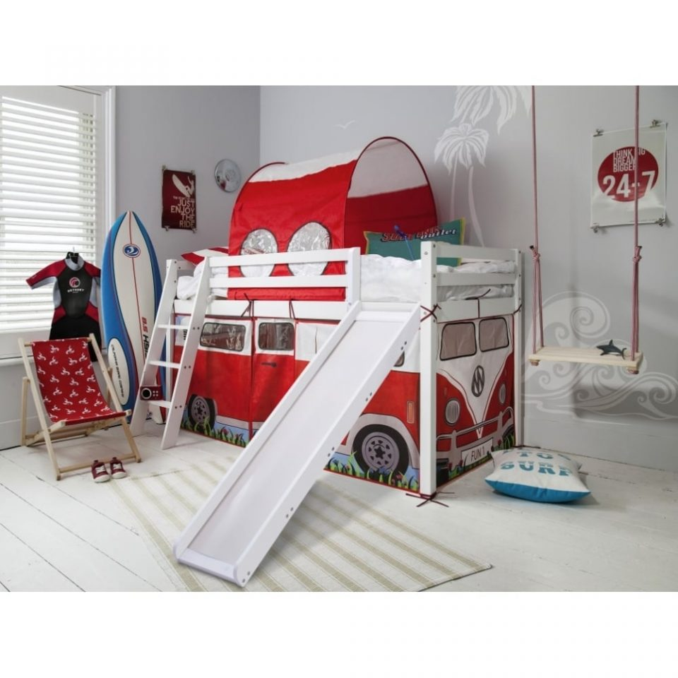 cabin bed with slide campervan tent