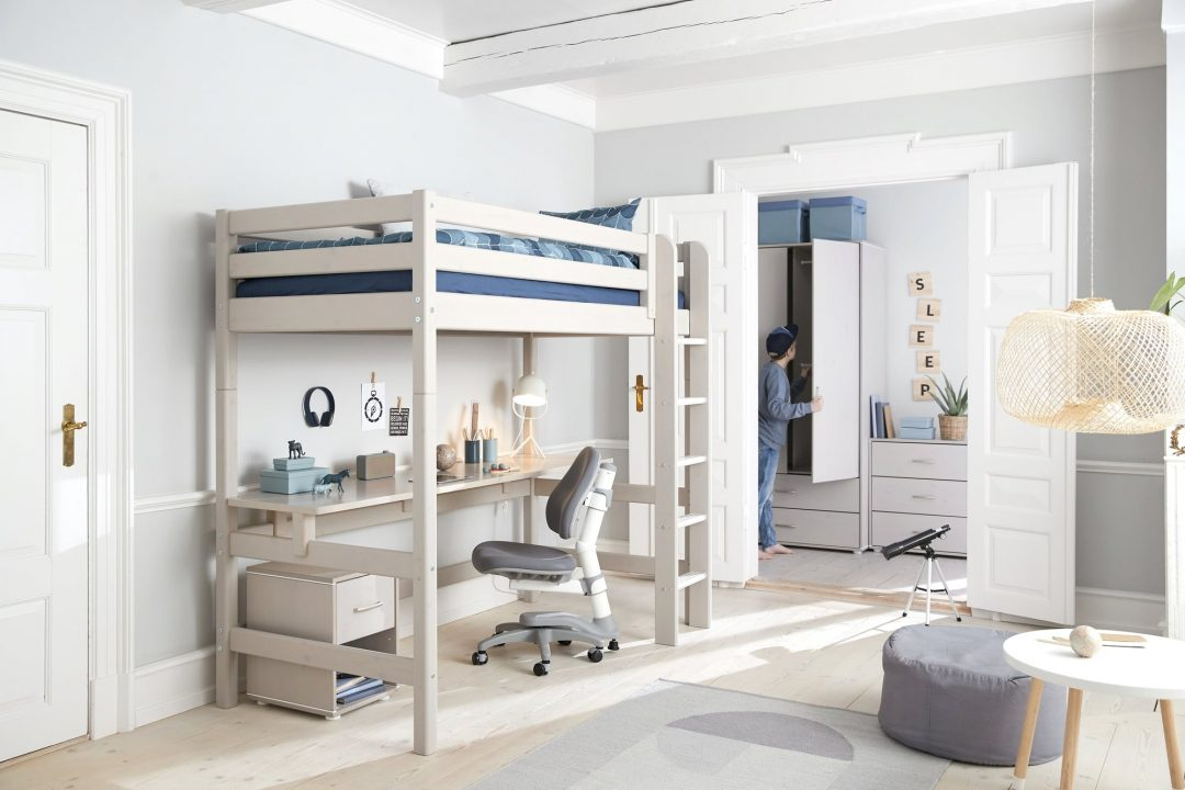 classic loft bed table hanging desk