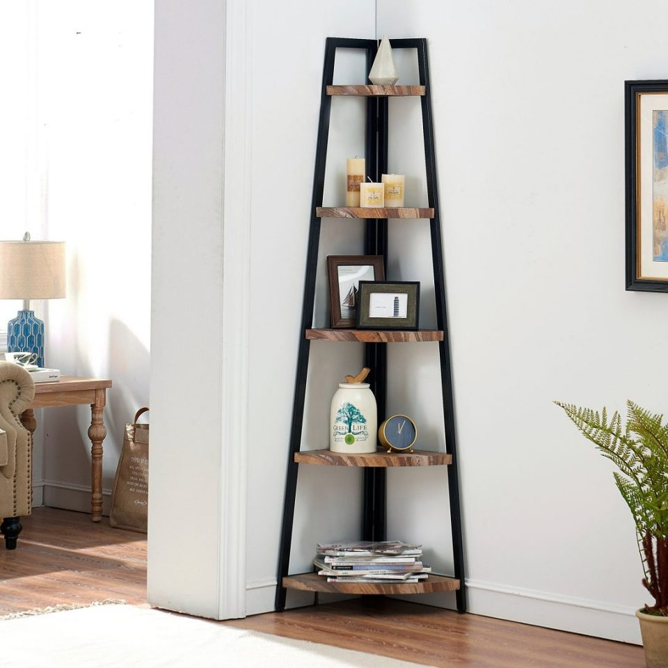 Corner Space Saving Bookshelves