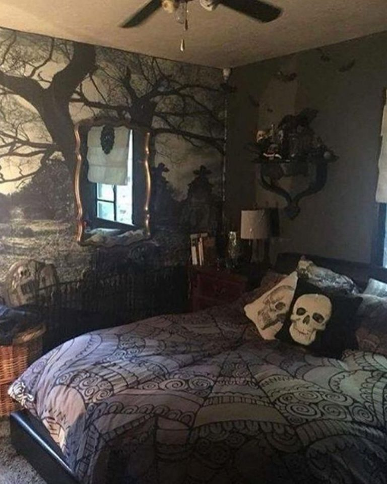 dark emo bedroom