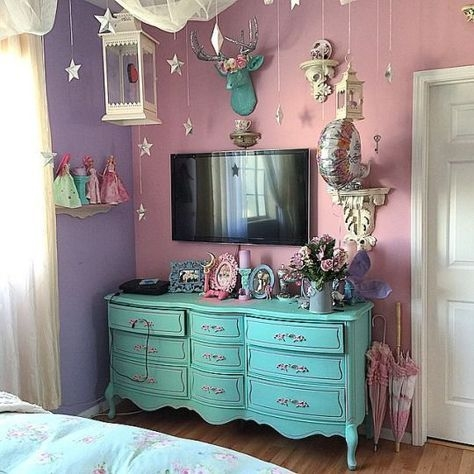 pastel goth room decor