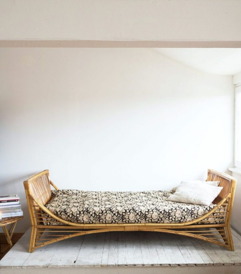 Rattan Bed With Wicker Rails