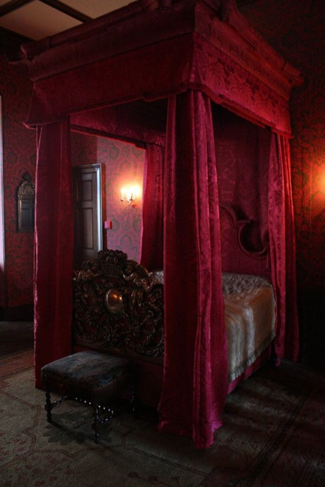 red gothic room interior