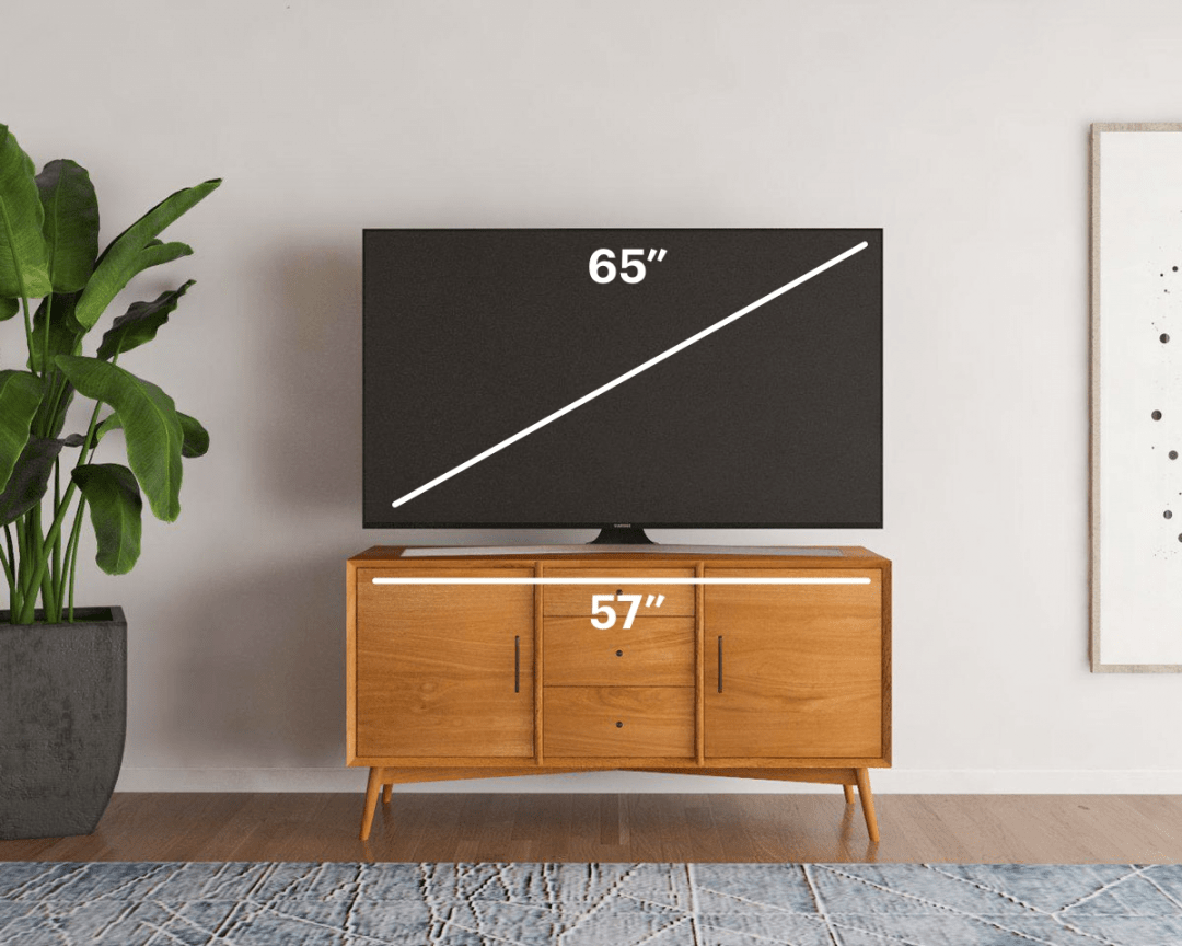 small tv stand size guide