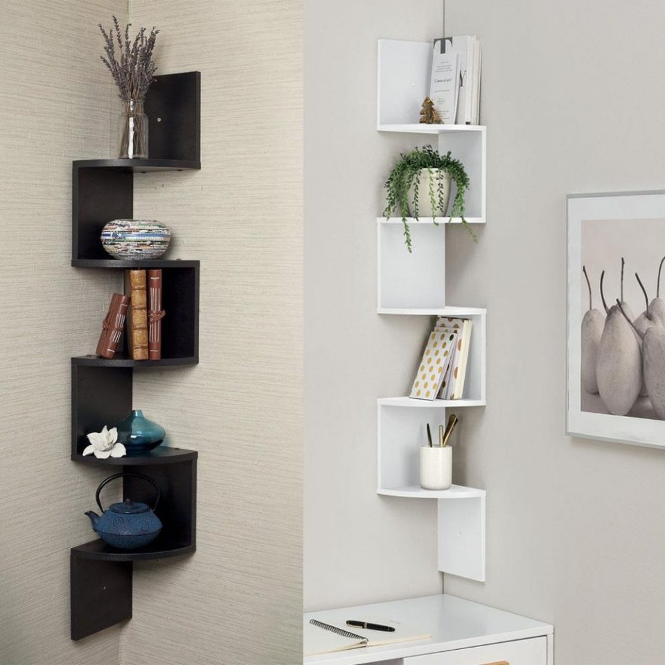 Wall Corner Shelf Floating Display Space Saving