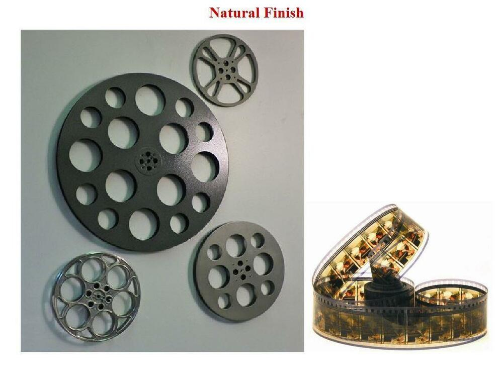 4 piece set film reel wall decor for home theater and