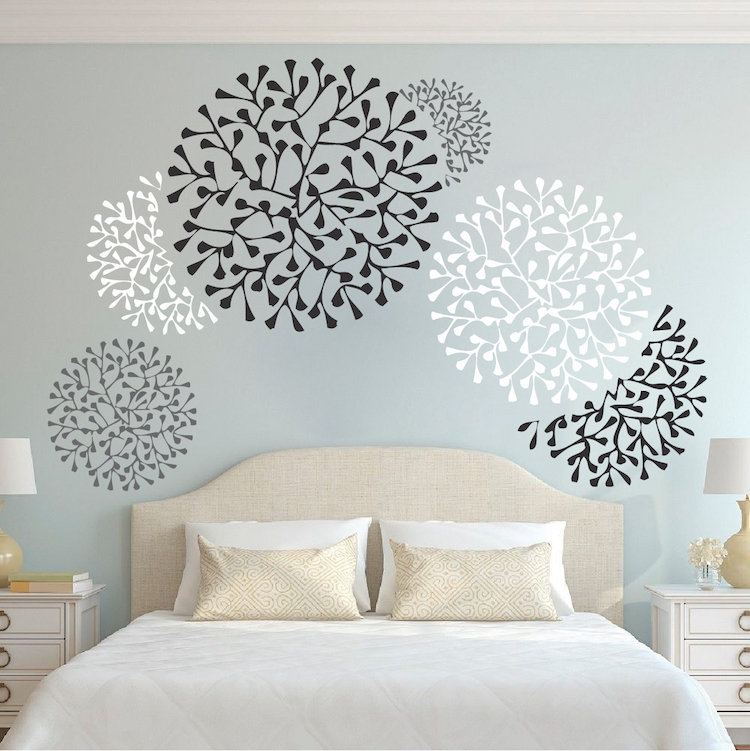 beautiful wall accent decals bedroom wall stencils