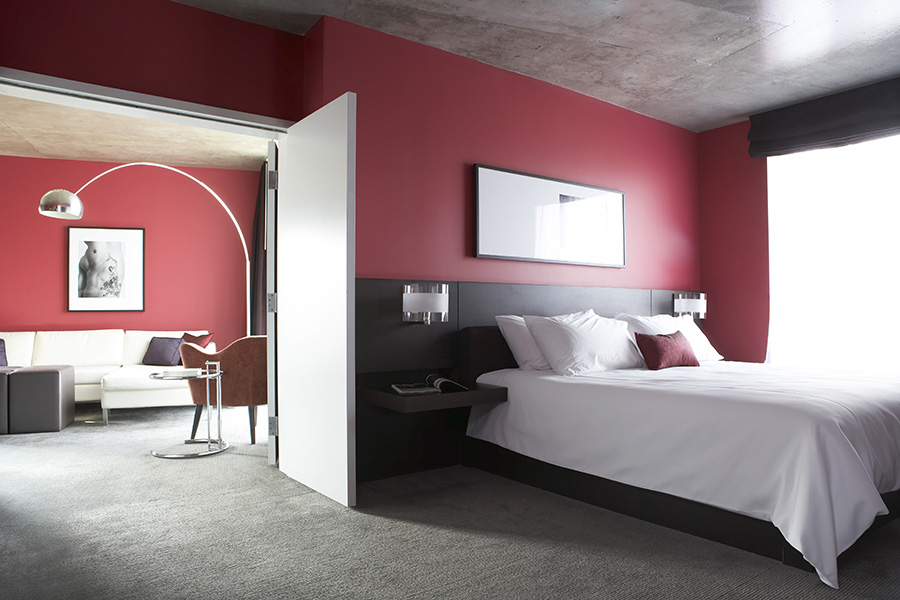dcor of bedroom in red my decorative