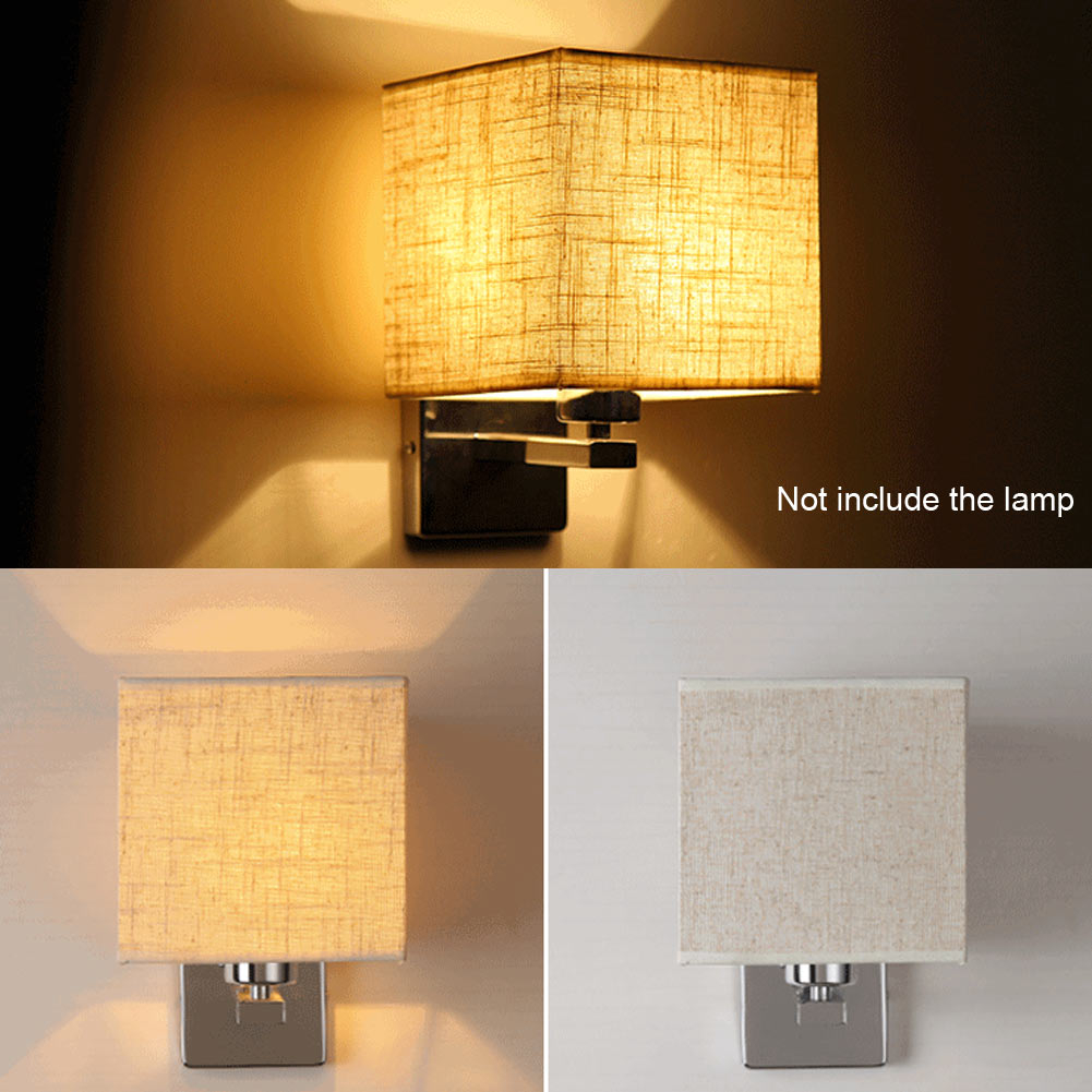 e27 led cloth wall lamp sconce light for hotel reading